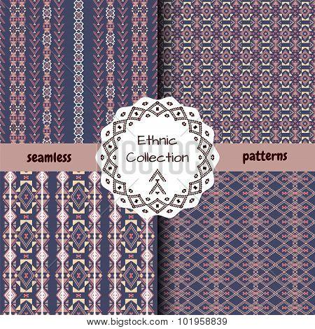 Set Of Ethnic Tribal Patterns