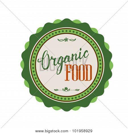 Organic Food Hand Lettering Handmade Vector Calligraphy