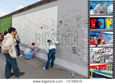 The East Side Gallery On The Berlin Wall