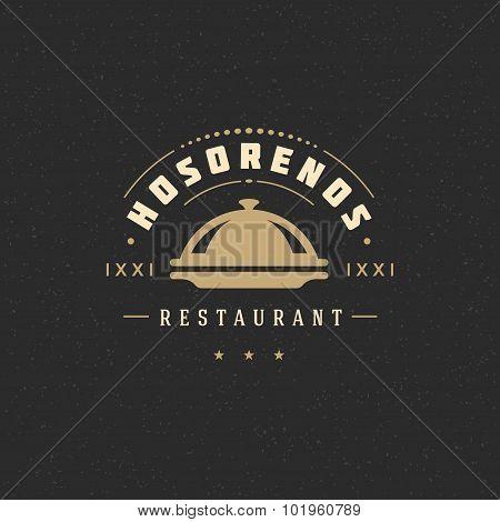 Restaurant Cloche Design Element