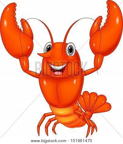 Cartoon lobster illustration