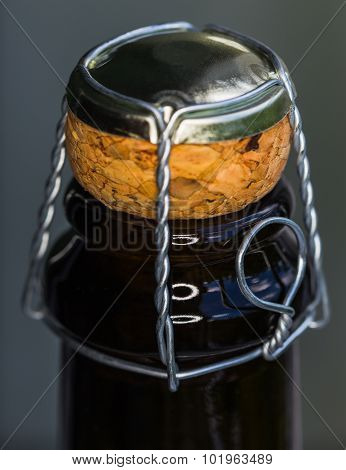 Closeup Of Champagne Bottle And Cork