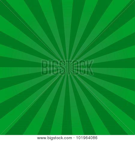 Ray retro background green colored rays stylish illustration
