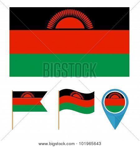 Malawi,country Flag