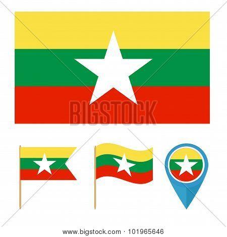 Myanmar,country Flag