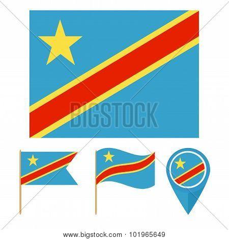Congo Kinshasa, Country Flag