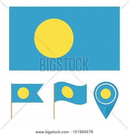 Palau, Country Flag