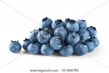 Blueberries Isolated On White Background.