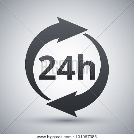 Vector 24 Hours Icon