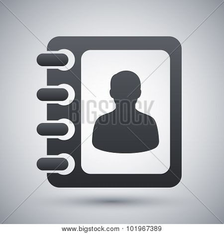 Vector Address Book Icon