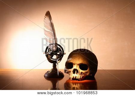 Skull And Quill Pen