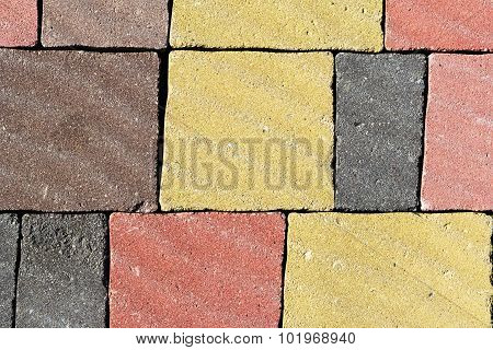 Texture Of Colorful Stone Paving
