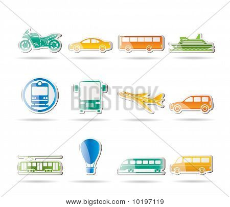 Travel and transportation of people icons
