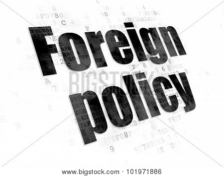 Political concept: Foreign Policy on Digital background