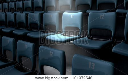 Highlighted Stadium Seat