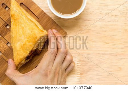 Puff Pastry Pie / Puff Pastry Background