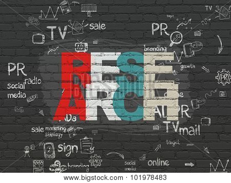 Advertising concept: Research on wall background