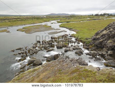 Stream In Iceland