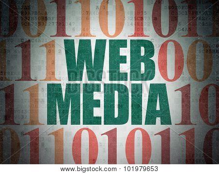 Web development concept: Web Media on Digital Paper background