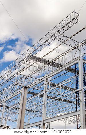 Steel Structure Background / Steel Structure / Steel Structure Under Construction