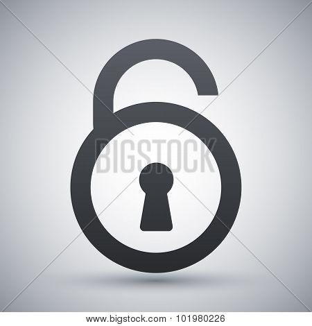 Vector Open Padlock Icon