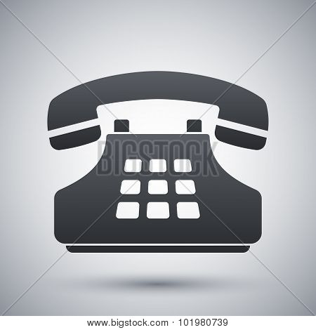Vector Push-button Telephone Icon