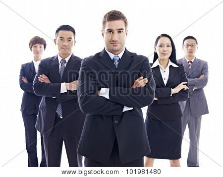 Portrait Of Multinational Business Team