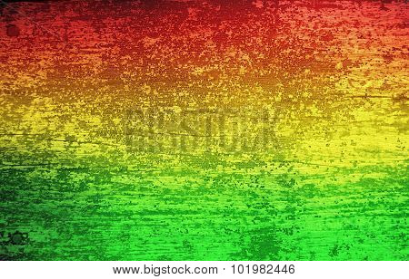 Green red yellow grunge wood background (Reggae style)