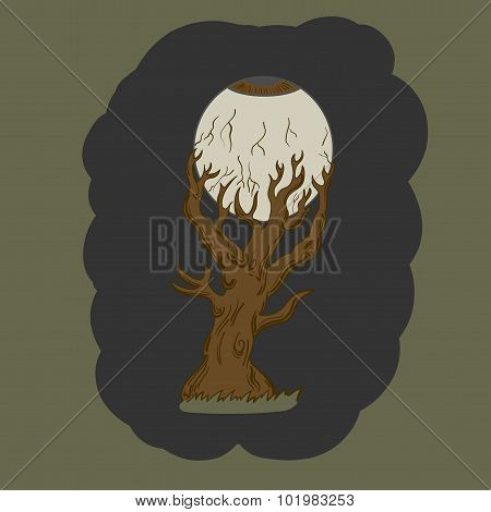 Halloween Tree. vector illustration
