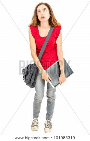Female Student Tired