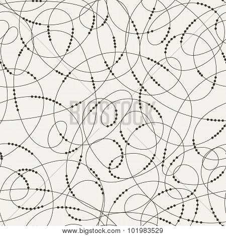 Vector seamless pattern of contrasting swirling lines