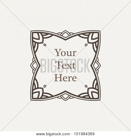 Vector ornate richly decorated vintage frame