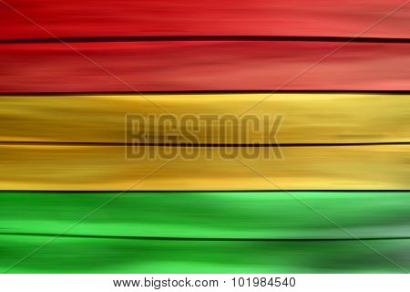 Green red yellow wood sheet background (Reggae style)