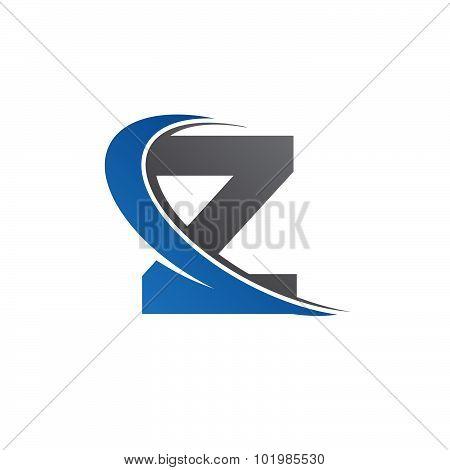 Z blue swoosh logo