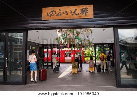 Yufuin Railway Station.