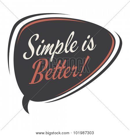 simple is better retro speech bubble