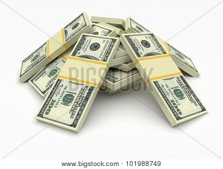 Money Stack. Finance Concepts