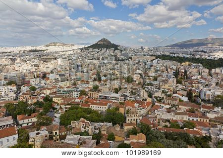 Athens view from Acropolis hill, Greece