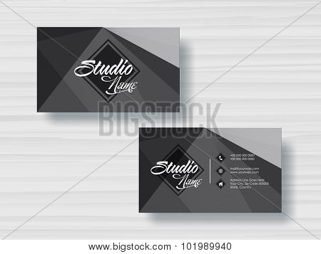 Stylish horizontal business card or visiting card set for your company.