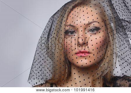 close portrait of a beautiful blonde