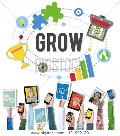 Grow Acheivment Success Development Goals Concept