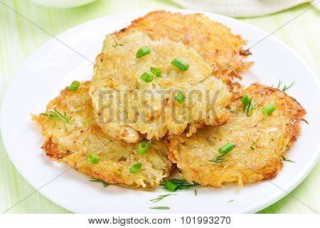 Potato Pancakes With Green Onion