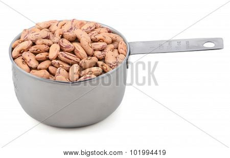 Borlotti Beans In A Measuring Cup