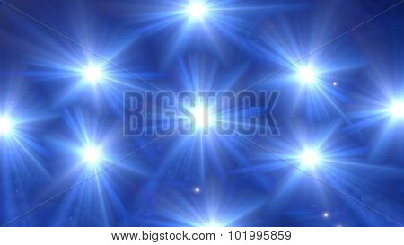 Star Glow Blue Pattern