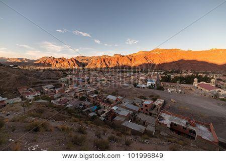 Sunset On Tupiza Red Mountain Range, Southern Bolivia