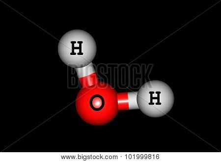 Water is a well-known solvent. It maintains life on the Earth. 3d illustration.