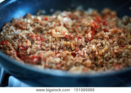Minced Meat With Spices And Veggies