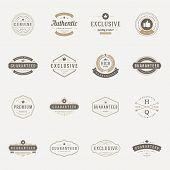 Retro Vintage Premium Quality Labels set poster
