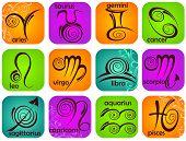 Постер, плакат: Zodiac icons