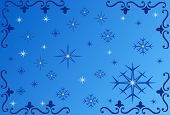 Snowflake Background - Illustration